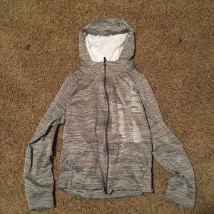Grey Nike zip up jacket